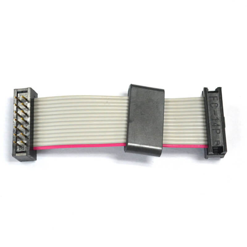 14 pins pitch 2.54 mm IDC to DIP ribbon flat cable NGD-008-2