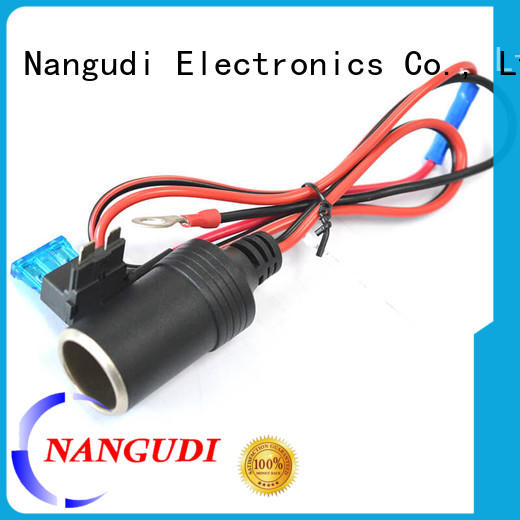 car cigarette lighter cable overmold Nangudi Brand dc in cable