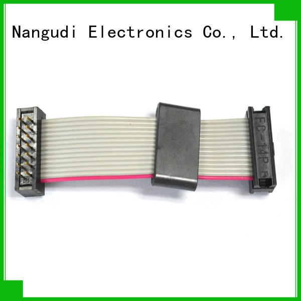 Nangudi male pitch 4 wire ribbon cable high density for CD players