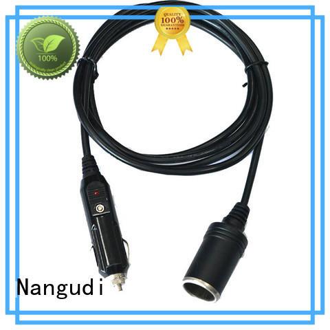 LED indicator 10A Car cigarette lighter plug to female socket cable NGD-027